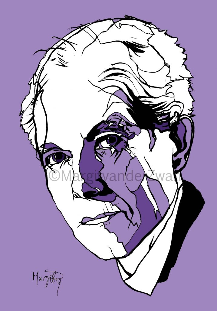 Bela Bartok drawing art portrait composer music musician orchestra symphony licensing licence license licensing illustration artwork unique illustrator modern ink colour face Margit van der Zwan Dutch art kunst kunstenaar Nederlands Manchester Classical baroque pop hip hop trans house